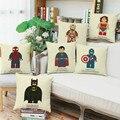 Wholesales linen pillow cover decorative cushion cover anime cartoon style home decoration pillow case 45x45cm