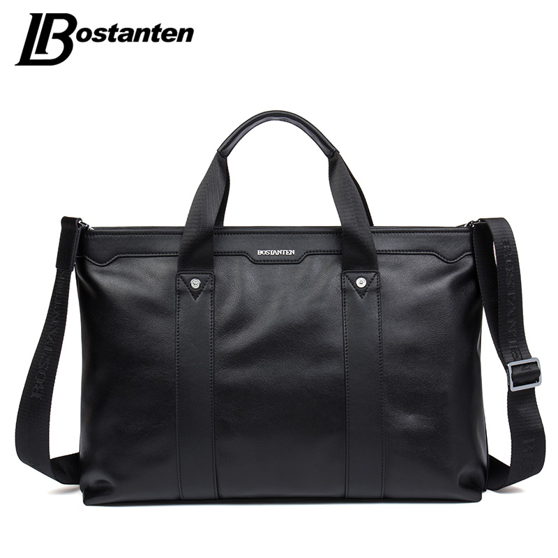 Подробнее о BOSTANTEN Men Briefcase New Fashion Cow Genuine Leather Handbags Men High Quality Shoulder Messenger Bag Business Briefcase Bags new men business handbags messenger bags genuine leather bag men briefcase fashion high quality brand design shoulder bag ys1444