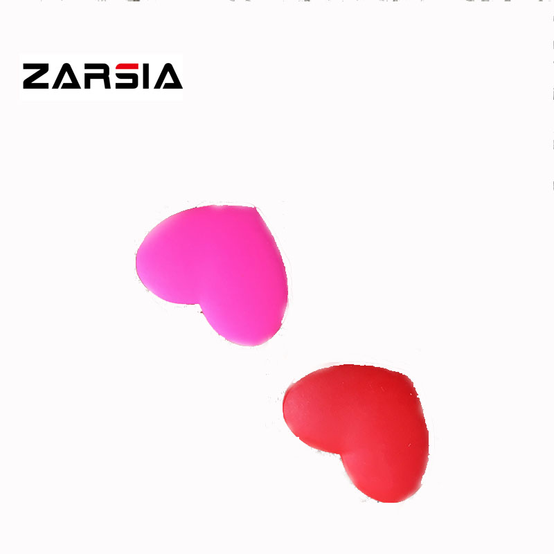 10 Pcs ZARSIA Red Pink Heart Tennis Vibration Dampener Reduce Tennis Racquet Vibration