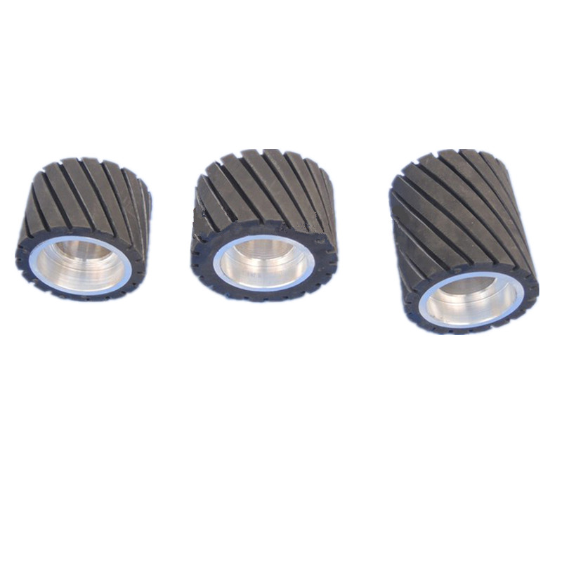 все цены на Rubber Wheel 70mm/80mm OD 6204 Bearings(Without) Hole Serrated Belt Grinder Abrasive Sanding Belt Contact with teeth wheel онлайн