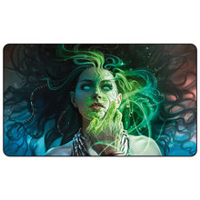 Jogo de cartas de negociação mágica playmat: máscara ancestral mestres eternos arte playmat para o jogo de cartas de negociação 60cm x 35cm (24