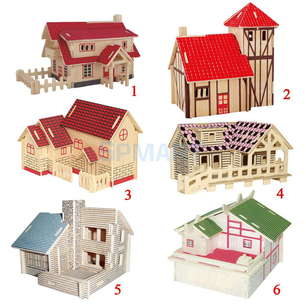 Child craft wooden blocks - Children Brilliant Toys 3d Wooden Puzzles Diy Assembled Model Buildings Crafts China Mainland