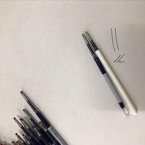 Image 3 - 0.5mm Blue Color Inks Refill Blue Rods For Xiaomi White Pen Signing Pen Plastic Pen Replacement Only For Old Version Xiaomi pen