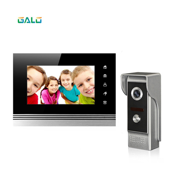 """V70Km-M4 wired video doorphone 7"""" TFT touch buttons and take photo and make memory for villa"""