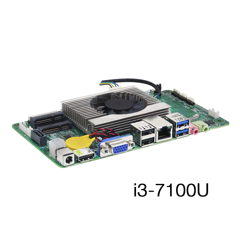 Intel Core i3 7100U Tout-en-un PC Carte Mère HDMI VGA LVDS 8 1xusb WiFi BT Gigabit LAN ordinateur industriel Embarqué Carte Mère