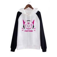 새로운 게임 D. VA 코스프레 파티 의상 패션 후드 코트 스웨터 D VA 여자/여성/여성/여성
