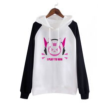 New Game D.VA Cosplay Party Costume Fashion Hooded Coat Sweatshirts D VA Jackets for Girls/Female/Women/Lady