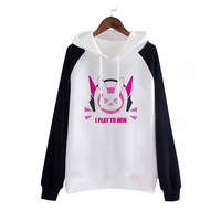2016 New Game D VA Cosplay Party Costume Fashion Hooded Coat Sweatshirts D VA Jackets For