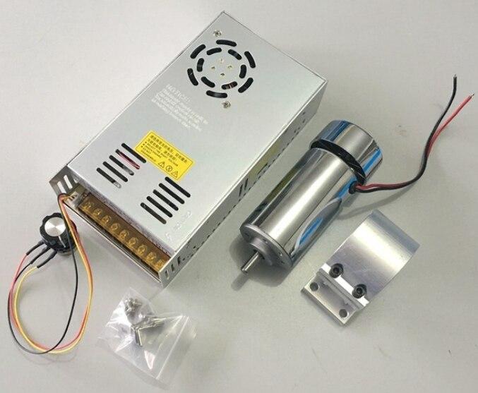10 шт. 12-48 В 0,4 кВт Мотор шпинделя + 52 мм кронштейн + регулятор скорости электропитания для DIY CNC