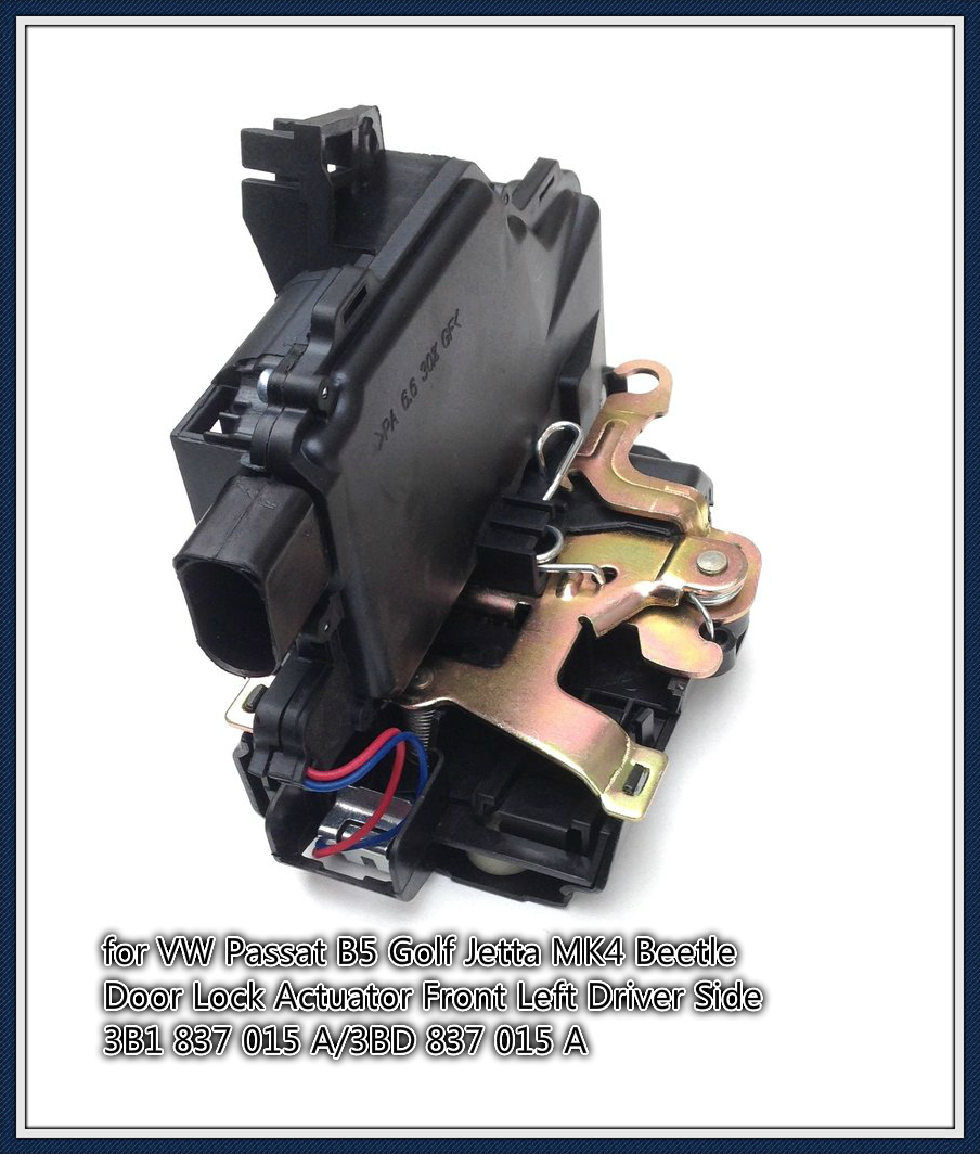 free shipping for VW Passat B5 Golf Jetta MK4 Beetle Door Lock Actuator Front Left Driver Side 3B1 837 015 A/3BD 837 015 A