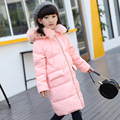 Down girl child in the long section 2016 new authentic Korean children's clothing big virgin thicker coat fashion