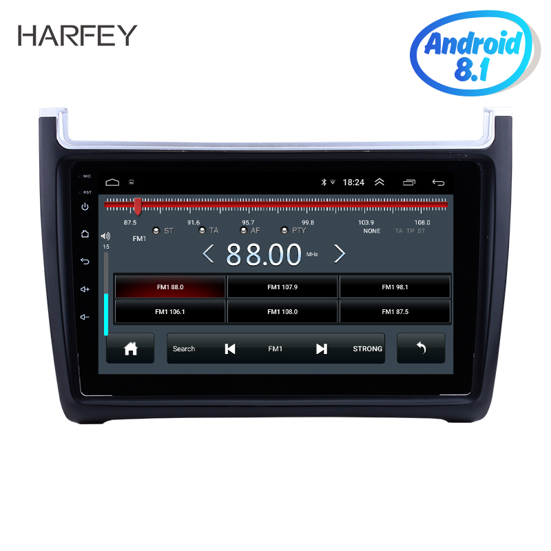 "Harfey 9""  Android 8.1 for 2012-2015 VW Volkswagen Polo Car Audio Stereo GPS Navigation with 1080P Video Bluetooth RDS Radio SWC"