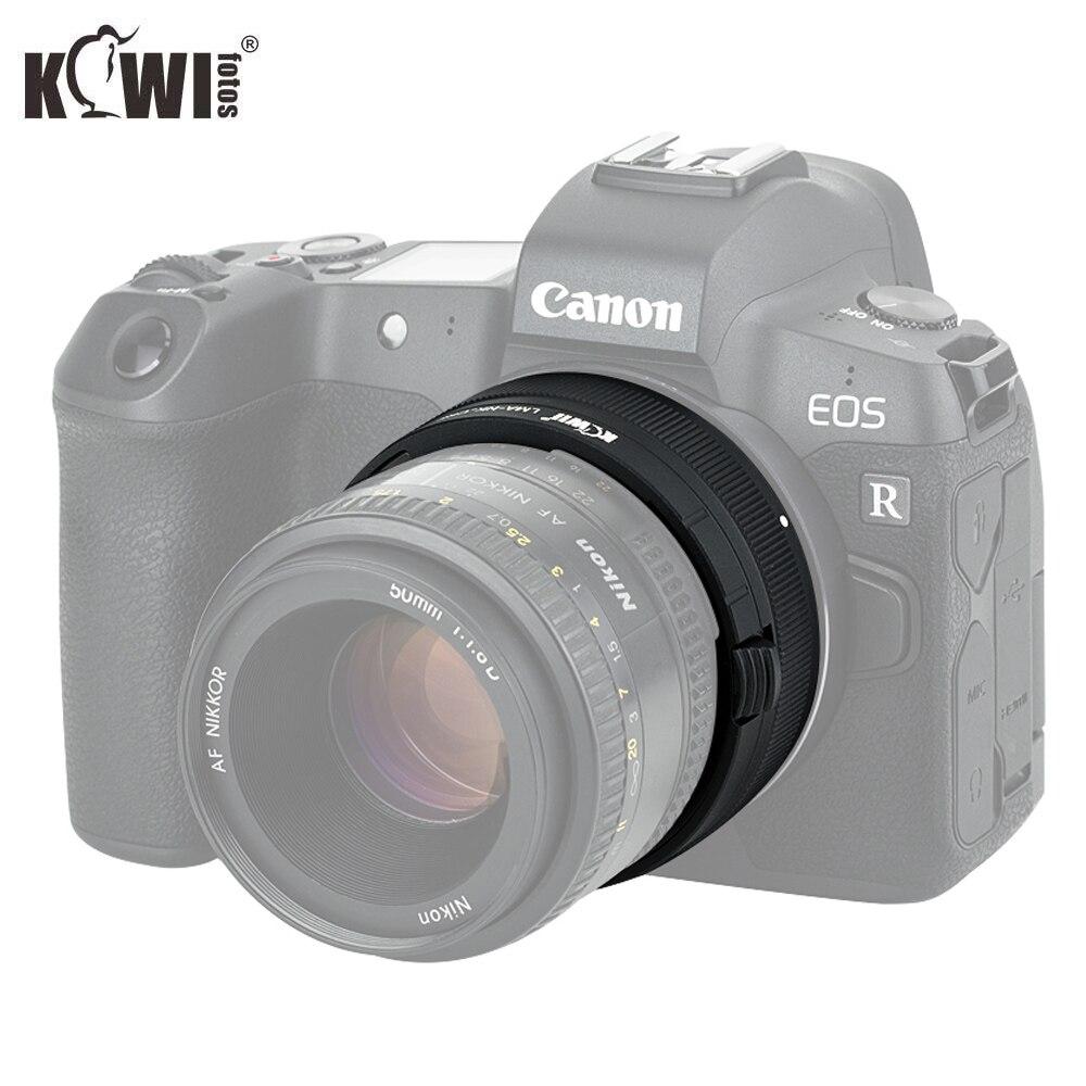 KIWIFOTOS LMA-NK_CRF adaptateur de monture d'objectif pour Nikon F lentilles de montage à Canon RF corps de montage en alliage d'aluminium + laiton