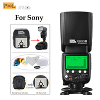 Pixel X800S Standard S1/S2 TTL HSS 1/8000s Wireles Flash Speedlite+TF 336 Hotshoe Adapter with PC Port For Sony and DSLR Cameras