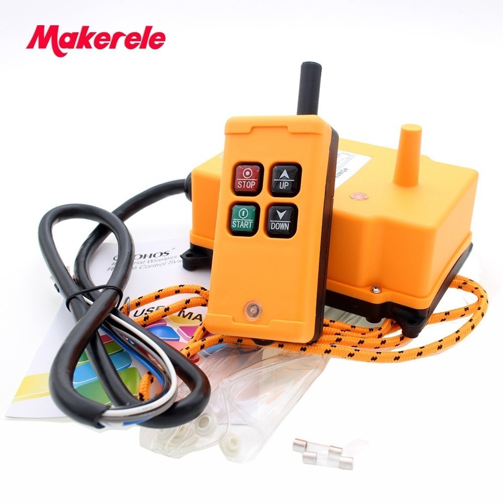 MKHS-4 AC220V 110V 380V 36V DC12V 24V Industrial remote controller Hoist Crane Control Lift Crane 1 transmitter+1 receiver цена в Москве и Питере