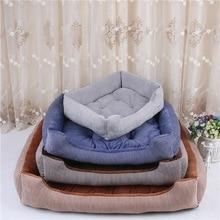 Мягкий коврик в полоску для собак, питомник для собак, щенков, теплая кровать, плюшевое уютное гнездо для маленьких, средних и больших собак, коврик для дома, теплые зимние товары для домашних животных