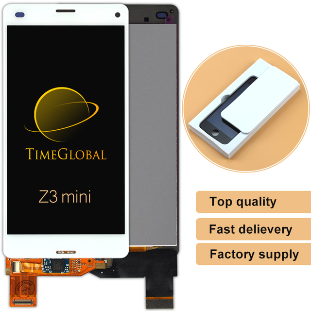 Dhl 30 stks 100% nieuwe alibaba china highscreen voor sony ericsson xperia z3 mini z3 compact lcd-scherm en touch screen Digitizer