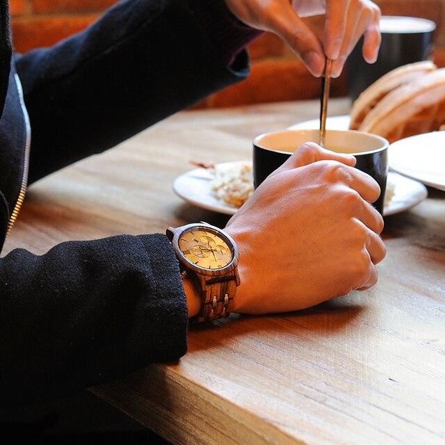 BOBO UCCELLO Cronografo Vigilanza Degli Uomini relogio masculino Calendario Orologi Al Quarzo Orologi di Lusso In Legno in Contenitore di Regalo di Legno