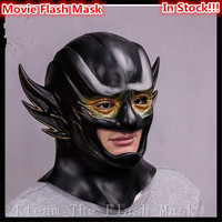 The Flash Mask with Zipper Cosplay Helmet Red Latex Full Head Mask Halloween Christmas Party Cosplay Movie Face Rival Mask