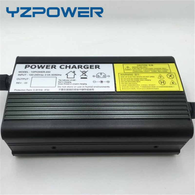YZPOWER 58V 5A 4.5A 4A Lead Acid Battery Charger For 48V Battery Pack Ebike E-bike Electric Bike E-scooter Aluminum Case 36v 9a charger for 41 4v lead acid battery electric motorcycle lithium battery pack electric scooter forklift