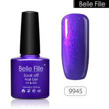 BELLE FILLE 10ml 79 Color UV Gel Nail Polish Clear Colors Bling Soak Off Varnish Easy Painting Gel Nail Art Long Lasting lacquer