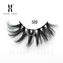 HEXUAN High Grade 5D Mink Lashes 25mm False Eyelash Thick Strip Handmade Lengthening Eye Women 3D Wholesale