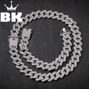 Chains Necklace Hiphop Jewelry Cuban Link Rhinestones Iced-Out Color Fashion Men