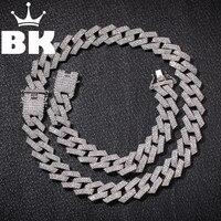 Новый цвет 20 мм кубинские звенья цепи ожерелье модные хип-хоп ювелирные изделия 3 ряда Стразы Iced Out ожерелье s для мужчин