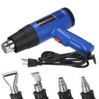B 1800W Adjustable Temperature Hot Air Gun Fast Heating Industrial hair dryer hot gun soldering Heat gun Blower 4 Nozzles