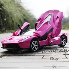 MZ 1:29 Спортивный автомобиль метод несколько Цвет литого металла Сплава модель автомобиля Открыть дверь Музыкальный Мигающий Вытяните Назад детей toys