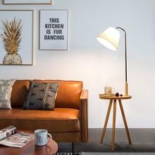 Model style modern iron Wood painted floor Lamps adjustable E27 110v 220V floor lights for living room study bedside office недорого
