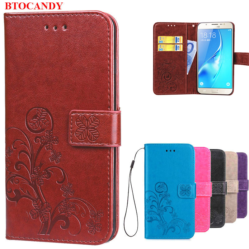 Luxury Retro Dompet Kulit Balik Cover Untuk Kasus Samsung Galaxy J5 - Aksesori dan suku cadang ponsel - Foto 1