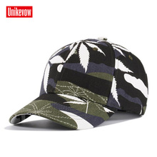 UNIKEVOW Unisex Leaf Camouflage Baseball Cap Snapback Hat For Men Outdoor Casual Army Caps Women Gorra Wholesa;e