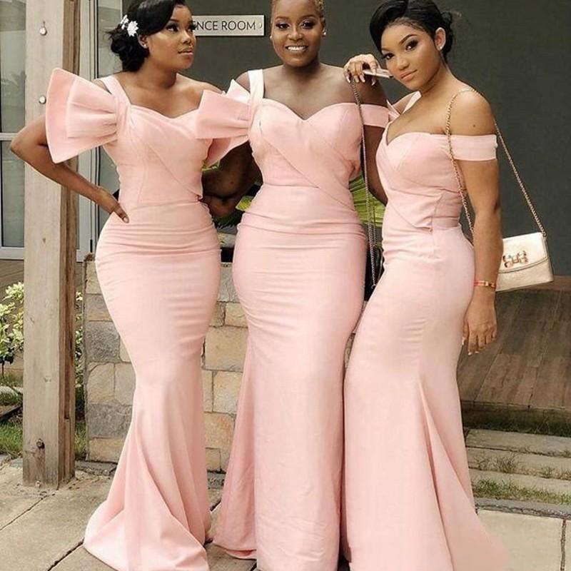 2019   Bridesmaid     Dresses   For Wedding Plus Size Mermaid Maid Of Honor Gowns Off Shoulder   Bridesmaid     Dress   Cheap
