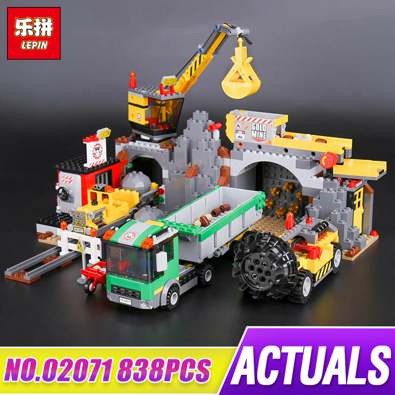 Lepin 02071 838Pcs The City Mine Model 4204 New City Series Children Building Blocks Brick Educational Kids Play Toys