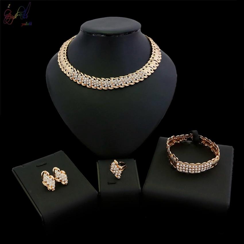 YULAILI 2018 Fashion Zinc Alloy Gold Color Ladies Costume Jewellery Sets with Price OnlineYULAILI 2018 Fashion Zinc Alloy Gold Color Ladies Costume Jewellery Sets with Price Online