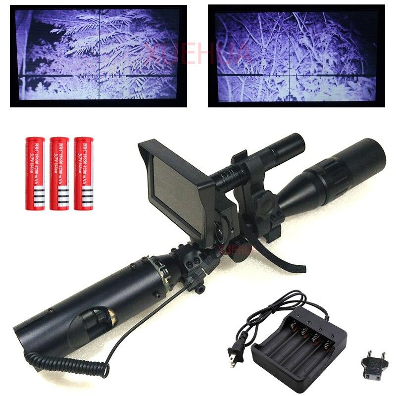 Hot New Outdoor Caccia sight optics Tattico digitale A Raggi Infrarossi di visione notturna cannocchiale da puntamento con Batteria Monitor e Torcia Elettrica