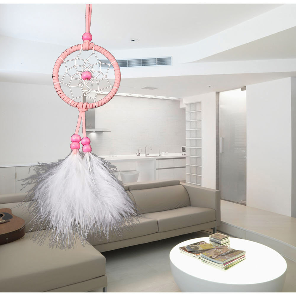 Leuke Kamer Decoratie Us 1 64 10 Off Mini Leuke Auto Styling Dromenvanger Hangend Witte Veer Babies Inheemse Kamer Decoratie Dreamcatcher Samll Ornamenten Decor In Mini