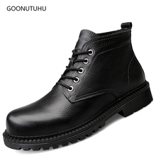 2019 winter fashion men's boots military casual shoes genuine leather cow boot plus size black shoe man ankle snow boots for men mycolen brand ankle snow boots men shoes genuine leather winter fashion cow motocycle casual boot male high top flat botas