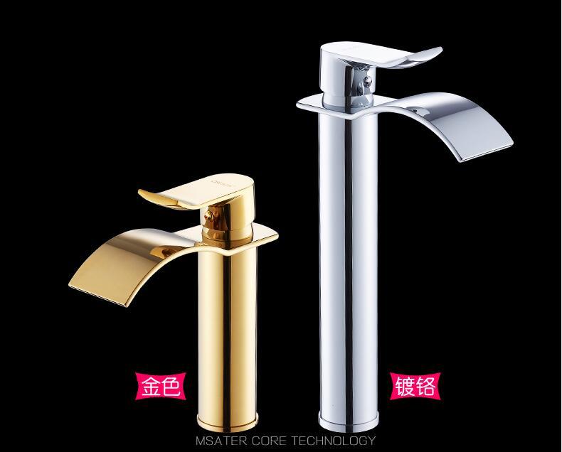 HTB1GgvQX5MnBKNjSZFoq6zOSFXa1 Basin Faucet Gold and white Waterfall Faucet Brass Bathroom Faucet Bathroom Basin Faucet Mixer Tap Hot and Cold Sink faucet