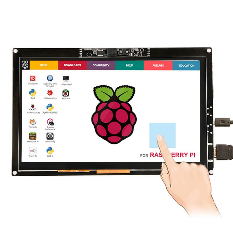 Elecrow tela touch capacitiva de 7 polegadas, 1024x600 com câmera 720p para raspberry pi macbook pro windows 10 tela do módulo lcd