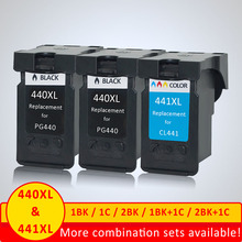 Xiangyu PG 440 CL 441 Refilled Ink Cartridge Replacement for Canon PG440 CL441 440XL 441XL for Printer 4280 MX438 518 378 MX438