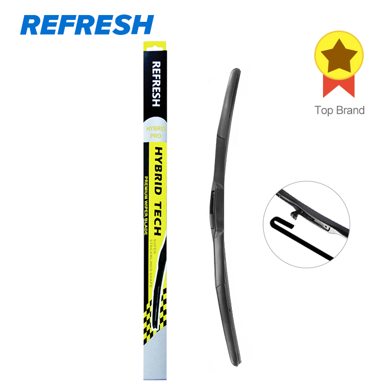 e3a9efd640 REFRESH Hybrid Wiper Blade Dual Rubber for Best Wipe Windscreen High  Performance Fit Hook Arms Only - ( Pack of 1 )