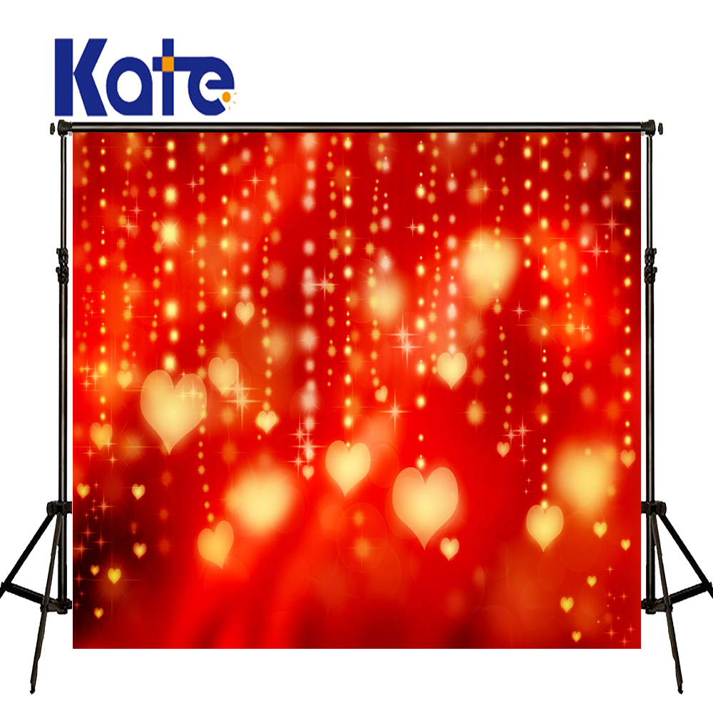KATE Valentine's Day Backdrops Photo Background Glitter Backdrop Red Bokeh Wedding Backdrop Love Curtain Photo for Photocall allenjoy backdrop spring background green grass light bokeh dots photocall kids baby for photo studio