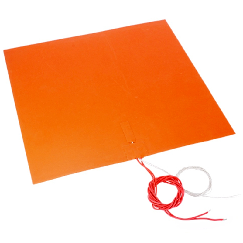 ENERGETIC New Silicone Heater Pad 400x400mm 220V 500W Heat Bed for 3D Printer Bed with Adhesive