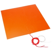 ENERGETIC New Silicone Heater Pad 400x400mm 220V 500W Heat Bed for 3D Printer Bed with Adhesive Backing