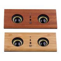 Wooden Retro Induction Speaker Waterproof Drop proof Call Function mini Mobile Phone Bracket Smart Computer Speaker SD