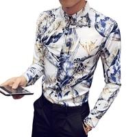 2018 Spring Autumn Features Shirts Men Casual Dress Wedding Beach Shirt New Arrival Long Sleeve Casual