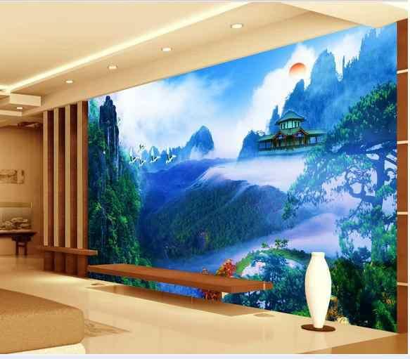 カスタム写真の壁紙 3d 壁の壁画テレビ壁紙牧歌的な風景壁マウンテン風景壁画壁の論文の家の装飾