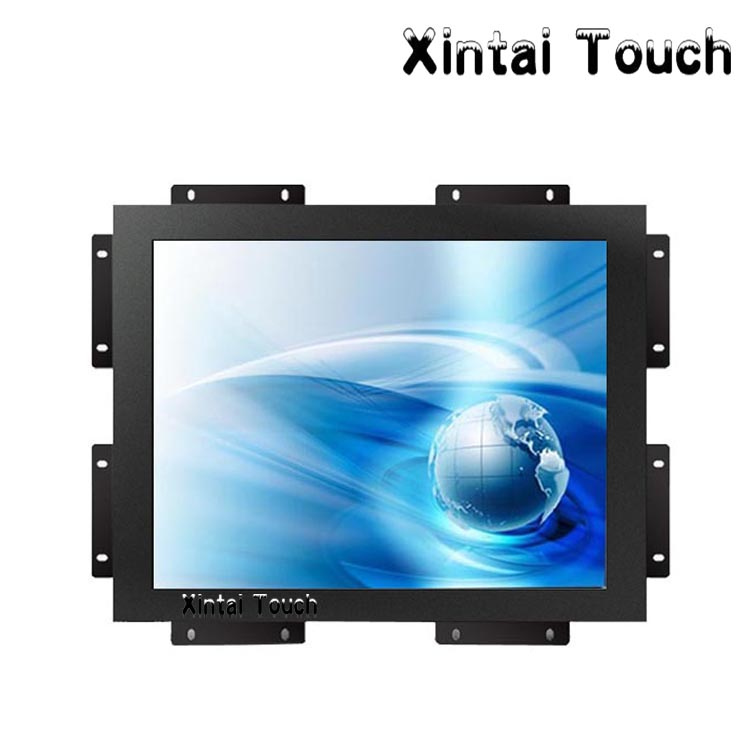 12.1 inch open frame touch monitor 4-wire Resistive LCD touch screen Montior for POS and gaming machine ...